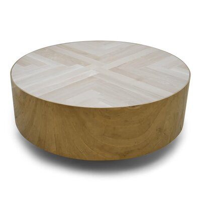 Amalfi Round Brass Coffee Table