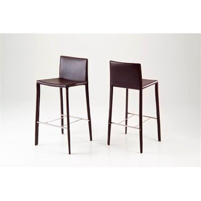 Sherwin 24 Bar Stool (Set of 2) Upholstery: Brown