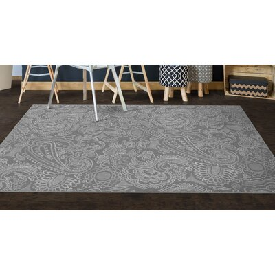 Perrodin Gray Area Rug Rug Size: Rectangle 76 x 10