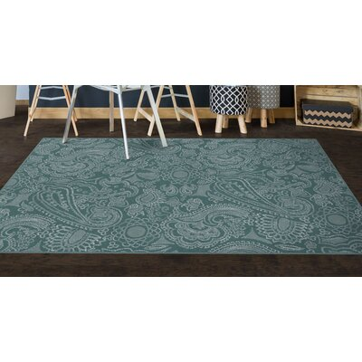 Perrodin Teal Area Rug Rug Size: Rectangle 34 x 5