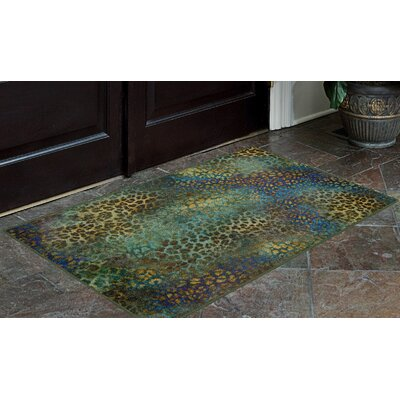 Pastrana Animal Print Blue/Green Area Rug Rug Size: Rectangle 5 x 8