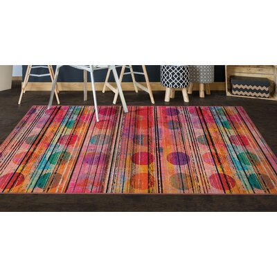 Corum Sunset Pink Area Rug Rug Size: Rectangle 34 x 5