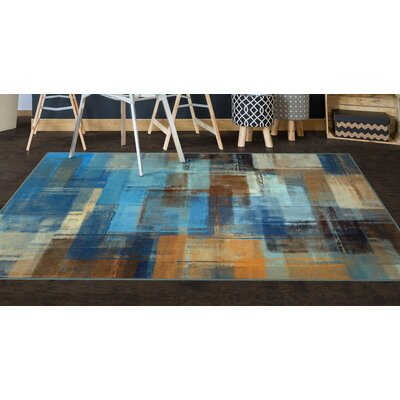 Cosentino Blue Area Rug Rug Size: Rectangle 76 x 10