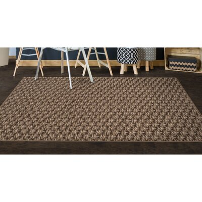 Burke Simple Sisal Brown Area Rug Rug Size: Rectangle 5 x 8