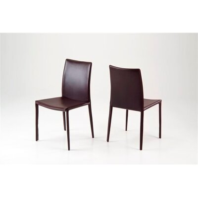 Sherwin Dining Chair (Set of 2) Upholstery Color: Brown