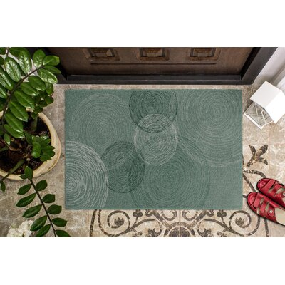 Claunch Pinwheels Green Area Rug Rug Size: Rectangle 34 x 5