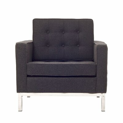 Rolina Armchair Upholstery: Black