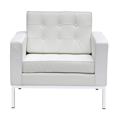 Seawell Armchair Upholstery: White