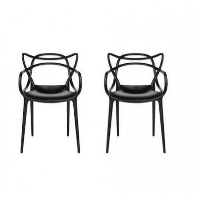 Farina Armchair Color: Black