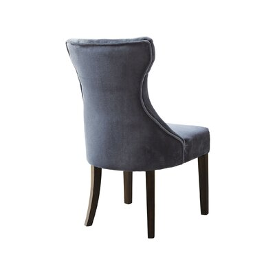 Delfin Upholstered Dining Chair Upholstery Color: Gray