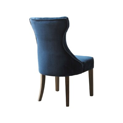 Delfin Upholstered Dining Chair Upholstery Color: Ice Blue