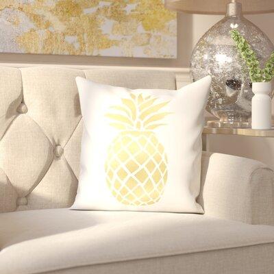 Keeley Pineapple Cotton Throw Pillow