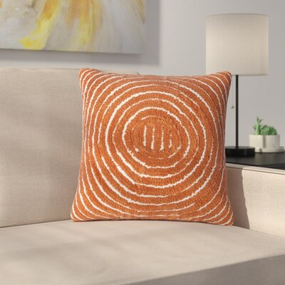 Mulhall Circle Throw Pillow Color: Orange