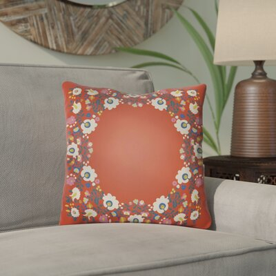 Dillingham Indoor/Outdoor Throw Pillow Size: 22 H x 22 W x 3 D, Color: Red