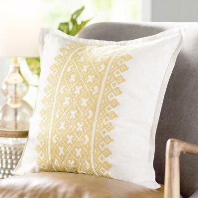 Ilana Linen Throw Pillow Size: 20 H x 20 W x 4 D, Color: Mustard/Khaki