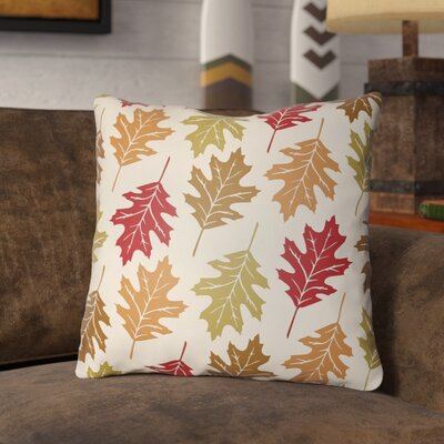 Pitchford Indoor/Outdoor Throw Pillow Size: 16 H x 16 W, Color: Crimson Red/Beige
