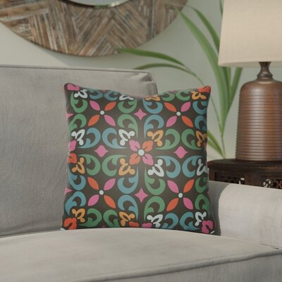 Dillion Indoor/Outdoor Throw Pillow Size: 20 H x 20 W x 3 D, Color: Black