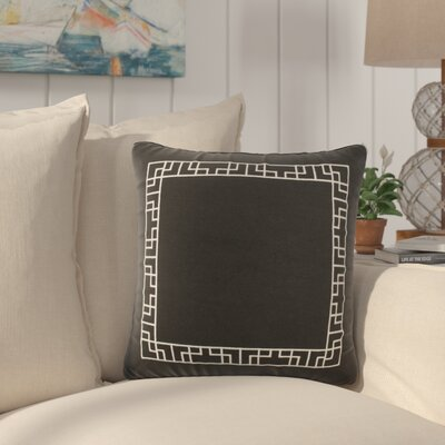 Southlake Cotton Throw Pillow Color: Black/ White