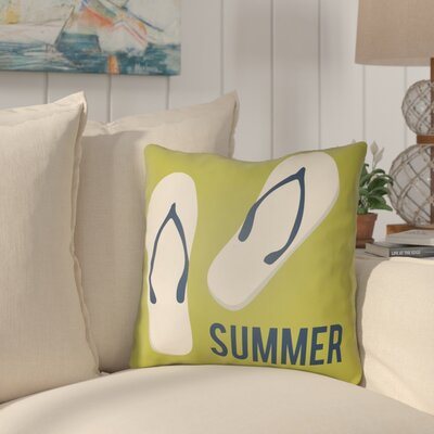 Courtois Summer Indoor/Outdoor Throw Pillow Size: 20 H x 20 W, Color: Lime Green/Navy Blue