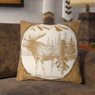 Pittard Moose Indoor/Outdoor Throw Pillow Size: 20 H x 20 W, Color: Tan/Beige