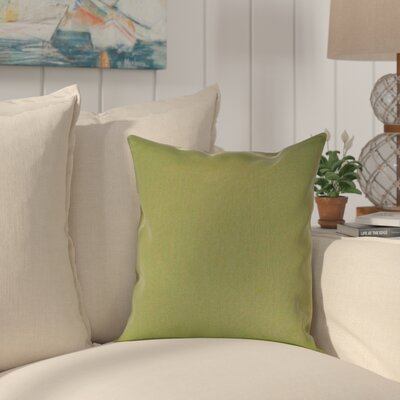 Halliburton Indoor/Outdoor Sunbrella Throw Pillow Color: Canvas Turf, Size: 18 x 18