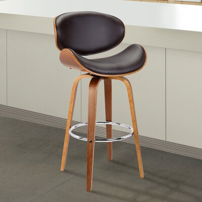 Chagoya Swivel Bar Stool Size: 38 H x 21 W x 20 D