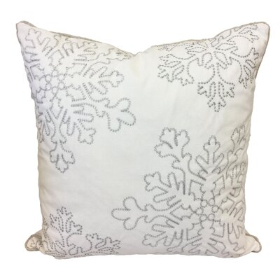Eley Embroidery Velvet Throw Pillow Color: White