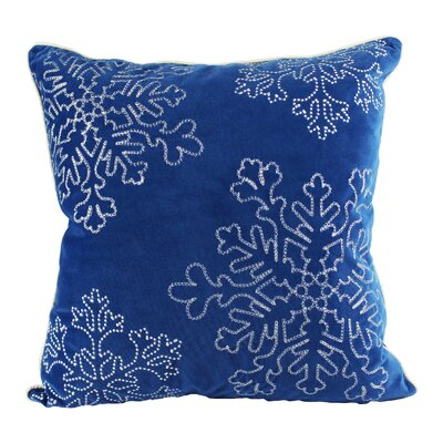 Eley Embroidery Velvet Throw Pillow Color: Blue