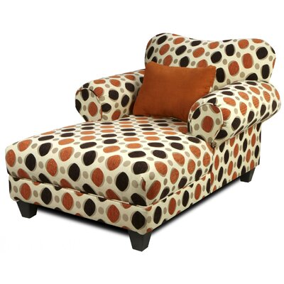 Edgin Chaise Lounge Upholstery: Chagall Chocolate