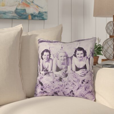 Courter Sandy Indoor/Outdoor Throw Pillow Size: 26 H x 26 W, Color: Violet