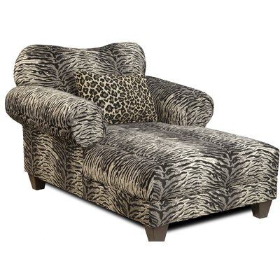Edgin Chaise Lounge Upholstery: Mombasa Panther