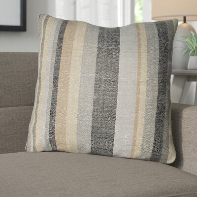 Zebrowski Indoor/Outdoor Throw Pillow Size: 16 H x 16 W, Color: Gray/Light Gray
