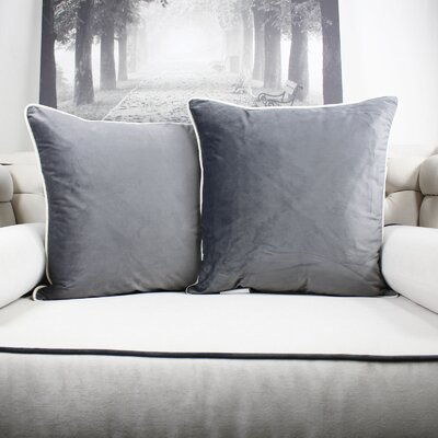 Catanzaro Velvet Throw Pillow Color: Gray