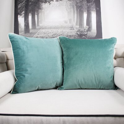 Catanzaro Velvet Throw Pillow Color: Teal