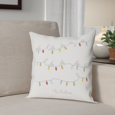 Bourgoin Personalized Fa La La Cotton Throw Pillow