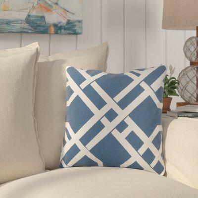 Southlake Cotton Throw Pillow Color: Blue/ White