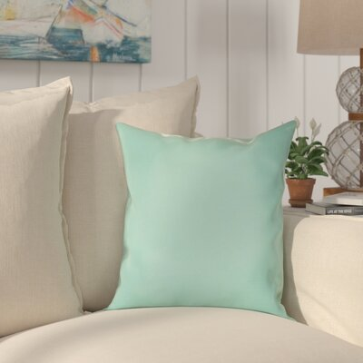 Halliburton Indoor/Outdoor Sunbrella Throw Pillow Color: Canvas Glacier, Size: 18 x 18