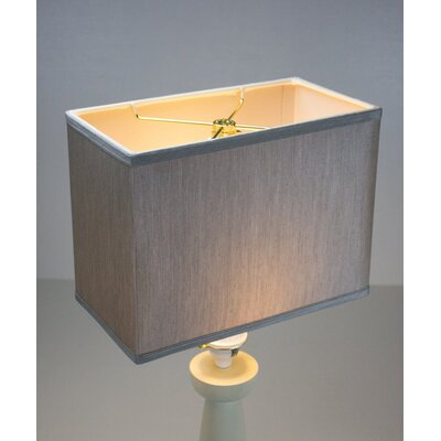 14 Linen Rectangular Lamp Shade Color: Bavarian Gray
