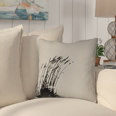 Cournoyer Indoor/Outdoor Throw Pillow Size: 18 H x 18 W, Color: Gray/Onyx Black