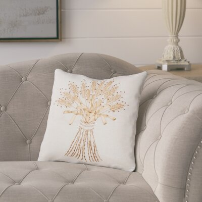 Dutil Sheath Ribbon Art 100% Cotton Throw Pillow