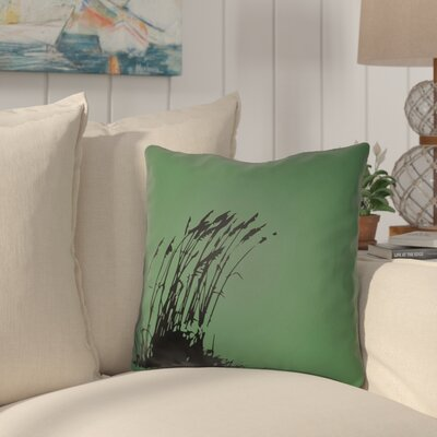 Cournoyer Indoor/Outdoor Throw Pillow Size: 18 H x 18 W, Color: Kelly Green/Onyx Black