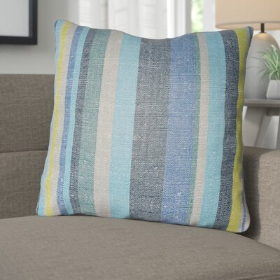 Zebrowski Indoor/Outdoor Throw Pillow Size: 22 H x 22 W, Color: Navy Blue/Royal Blue