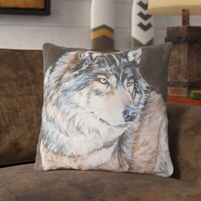 Novack Wolf Indoor/Outdoor Throw Pillow