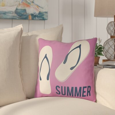 Courtois Summer Indoor/Outdoor Throw Pillow Size: 16 H x 16 W, Color: Fuchsia/Navy Blue