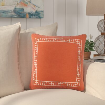 Southlake Cotton Throw Pillow Color: Red/ White