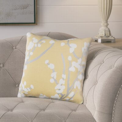 Kerwin Cotton Throw Pillow Color: Yellow/ Gray/ White