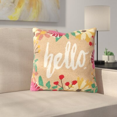 Metts Hello Hooked Throw Pillow
