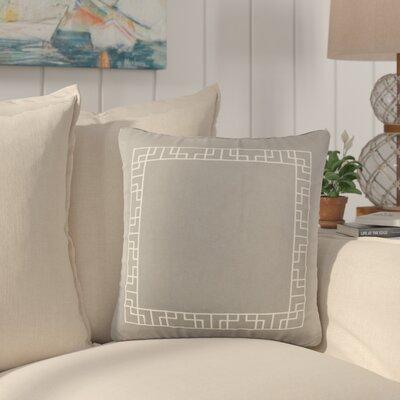 Southlake Cotton Throw Pillow Color: Gray/ White