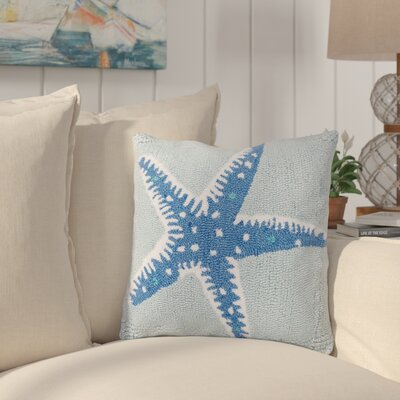 Chatman Starfish Hooked Throw Pillow