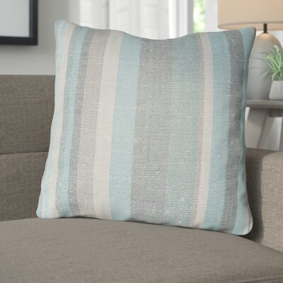 Zebrowski Indoor/Outdoor Throw Pillow Size: 16 H x 16 W, Color: Teal/Turquoise